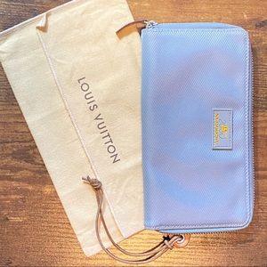Auth Louis Vuitton Cup 2000 Nylon Zip Wallet